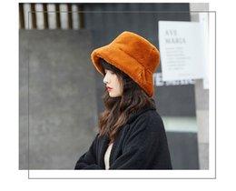 f03ed0a7349016 2018 Winter Women Fur Hats Thick Warm Soft Bucket Hats Casual Solid Color  Fashion Fur Cap Feminios Gorras Good Quality