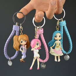 Discount one piece toys action figures - IVYYE 1PCS One Piece Nefeltari Girl Anime Action Figure Key Chain PVC Figures Keyring Toys Keychain Keyholder Unisex Gif