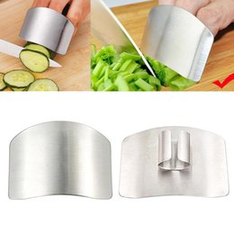 new cooking gadgets Australia - New Stainless Steel Kitchen Accessories Vegetable Finger Guard Gadgets For Personal Hand Safe Easy Cutting Cooking Tools