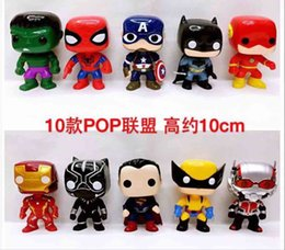 $enCountryForm.capitalKeyWord NZ - Funko Pop A Set of Action Figures Including Hulk Spiderman Captain America Batman Ironman Antman Blackpanther Xman No Retail Box