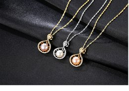 necklaces pendants Australia - hot S925 sterling silver necklace natural freshwater pearl pendant fashion women's accessories LBM27
