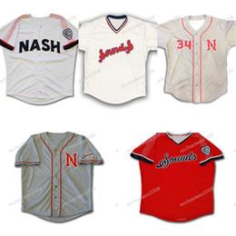 Navy blue meNs baseball jersey online shopping - Mens Nashville Sounds Navy Blue White Grey Red Custom Double Stitched Shirts Baseball Jerseys