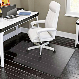 """wood office chairs 2019 - PVC Matte Desk Office Chair Floor Mat Protector For Hard Wood Floors Floor Protection Mat 48"""" x 36"""""""