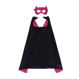 $enCountryForm.capitalKeyWord UK - 27inch double side cosplay capes mask set superhero children capes halloween masquerade mask kids birthday party gifts performance costumes