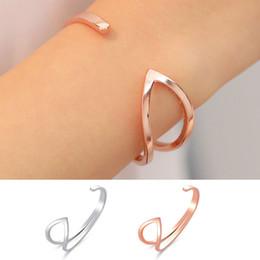 $enCountryForm.capitalKeyWord Australia - New Fashion Personalized Bangle Cuff Bracelet Rosegold Plated Deaigner Cuff Bracelet Christmas Gifts For Women Girls