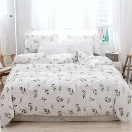 floral print cotton Australia - Lucky Home Botanical Duvet Cover Set Cotton Bedding Green Leaves Floral Garden Pattern Printed Home Children Room Decor King Size Sheet Set