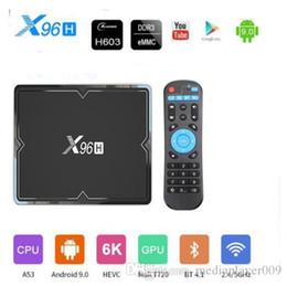 X96H smart tv box android 9.0 Allwinner H603 Quad-core 2G+16G 4G+32GB 4G+64GB 6K 2.4G&5GHz Wifi BT