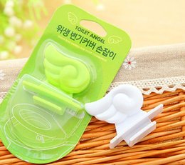 $enCountryForm.capitalKeyWord Australia - 4.5*4.4cm Cartoon Plastic Lift Toilet Lid Handle Portable Flipper Wings Cover Bathroom Products Sanitary Intimate Durable