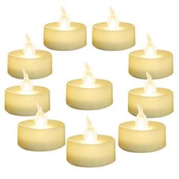 "SXI 24 Pack Warm Wit Batterij LED-theelichten vlamloze flikkerende theelichtdia 1.4 ""Electric Fake Candle voor Votive Wedding Party"