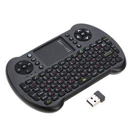 Mini Wireless Keyboard For Phones UK - 2.4G Mini USB Wireless Russian Version Keyboard Touchpad Mouse Remote Control for Android Windows TV Box Smart Phone