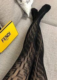 silks pantyhose 2019 - F letter logo women tights Black Pantyhose sexy thin jacquard romper silk stockings female summer sexy Leggings ladies l