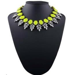 $enCountryForm.capitalKeyWord Australia - 2019 new fashion jewelry for women big Semi-elliptical rhinestones statement necklace chunky chain crystal choker bib necklaces pendants