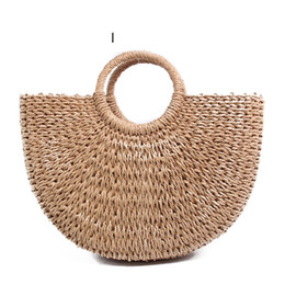 Straw Hands Bag Australia - good quality Summer Beach Bag Hand Woven Straw Bags Fashion Women Casual Tote Large Capacity Shopping Bags Women Handbags