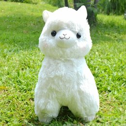 kawaii alpaca toy UK - Big size 35 45cm Japanese Alpacasso Soft Toys Doll Kawaii Sheep Alpaca Plush Toys Giant Stuffed Animal Toy Kids Christmas Gifts T191019