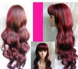 $enCountryForm.capitalKeyWord Australia - LL HOT sell Free >>>New wig Cosplay Long red & black mixed hair Wig