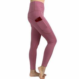 Hot girl leggings online shopping - Hot Sale Lu Brand Fitness Wear Girls Running Leggings Athletic Trousers Women Yoga Outfits Ladies Sports Full Leggings Ladies Pants Exercise