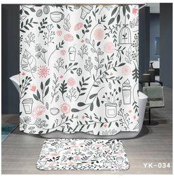 Curtains Designs For Bedroom Australia - Printing 5 Designs Waterproof Flamingo Plant Cartoon Bathroom Accessories Curtain for Living Room Bedroom Windows Luxury Home Decor