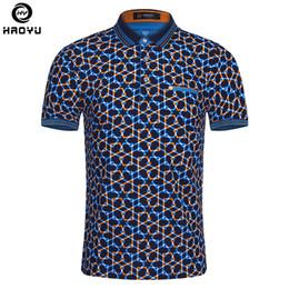 Big Man Polo Australia - 2018 Summer Fashion Mens Polo Shirt Short Sleeve Geometric Pattern Slim Shirt For Men Polo Shirts Camisa Polo Masculina Big Size Q190426