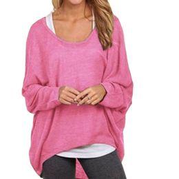 b4217afd8 Women TShirts 2018 Korean Casual Long Camisetas Mujer Batwing Sleeve Loose Tshirt  Female Pink Tunic Shirt Tops