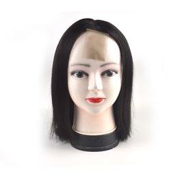 Saç Dantel Ön Peruk Bakire% 100% Remy İnsan Saç 130% Yoğunluk 8 '' -14 '' Bobo Saç Peruk İpeksi Düz Dantel Peruk indirimde