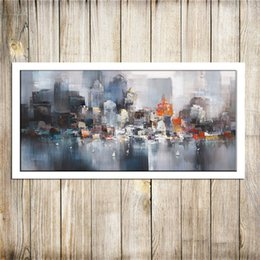 painting seascape boat Australia - City Building Rain Boat Poster Scenery , Canvas Pieces Home Decor HD Printed Modern Art Painting on Canvas (Unframed Framed) #01