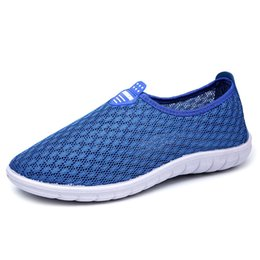 Mens Summer Shoes NZ - Men Shoes Summer Sneakers Mens Casual Shoes Slip-on Breathable Air Mesh Shoes Men Footwear Zapatillas Hombre Flats 39-44