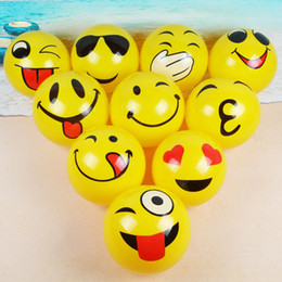 $enCountryForm.capitalKeyWord NZ - Beach Balls Inflatable Pool Toys 10 Pack Pvc Emoji Beach Balls For Pool And Beach Party Favors Swimming Water Toys For Kids 25cm Y19061704