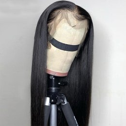 straight human hair full lace wigs Australia - Straight Lace Front Human Hair Wigs Pre Plucked Hairline 150% 13x4 Lace Front Wig 8-26 inch Brazilian Remy Hair Full Lace Hair Wig