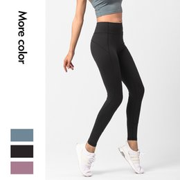 high apparel NZ - LU Vital Seamless Sports Cropped Pants Solid Colors High Waist Tummy Control Fitness Yoga Trousers Workout Leggings Apparel Women 62lya E19