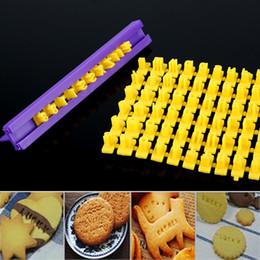 $enCountryForm.capitalKeyWord Australia - DIY Alphabet Plastic Cake Mould Letter Impress Biscuit Cookie Mould Cutter Press Set Stamp Embosser Fondant Mold