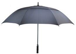 venda por atacado Golf Umbrella por Homens Automatic Abrir Windproof guarda-chuvas Extra Large Oversize Duplo Canopy exalado impermeável vara 62 Inch