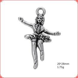 $enCountryForm.capitalKeyWord Australia - 30pcs Antique vintage Tibetan silver dancer girl charms metal dangle alloy pendants for necklace bracelet earring diy jewelry making
