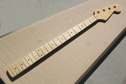 $enCountryForm.capitalKeyWord Australia - free shipping Wholesale 4 Strings Natural Wood Color Electric Bass Guitar Neck with 20 Frets,Flame Maple Neck,offering customized services