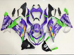 Zx 14 Fairing Purple Australia - New Motorcycle Abs Fairings Kit Fit for kawasaki Ninja ZX6R 636 599 2013 2014 2015 2016 2017 6R 13 14 15 16 17 ZX-6R custom Purple green