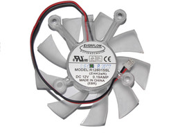 frameless fan Canada - EVERFLOW R128015SL(ZI4K2aR) 12V 0.19A 2 Wires 4 Mounting-hole distance Frameless DC Fan, VGA Fan
