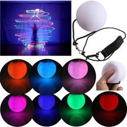 led glow ball lights Australia - LED Multi-Coloured Glow POI Thrown Balls Light up Diameter 8cm For Professional Belly Dance Hand Prop Party Decoration Waterproof