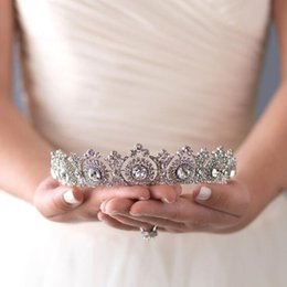 $enCountryForm.capitalKeyWord UK - Princess Zircon Crowns and Tiaras For Bride Super Shiny Rhinestone Women Jewelry Wedding Pageant Hair Accessories