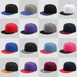 Candy baseball Caps online shopping - Factory Custom Adult Baseball cap Flat Brim Candy color Hip hop caps Patchwork Snapback Children Embroidery LOGO letter Boys Solid Sun Hats