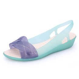 1ffba177f Women Sandals Beach Jelly Shoes Woman Flat Sandals New EVA Soft Mixed Candy  Colors Summer Casual Slip On