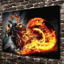 $enCountryForm.capitalKeyWord Australia - Marvel Ghost Rider,1 Pieces Home Decor HD Printed Modern Art Painting on Canvas (Unframed Framed)
