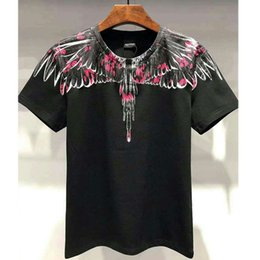 Wholesale Marcelo Burlon T Shirts Hip Hop Streetwear Rodeo Magazine Mb T shirt Newest Feather Wings d Print Marcelo Burlon Top Tees