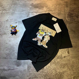 $enCountryForm.capitalKeyWord Australia - 2019 New Tee GG white black cotton multicolor letter logo print short sleeve O-neck T-shirt men and women t shirt wear casual tee