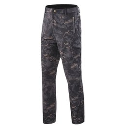 black thermal pants Australia - Men's Soft Shell Tactical Pants Hiking Fishing Skiing Hunting Riding Cargo Trousers Fleece Thermal Outdoor Pants