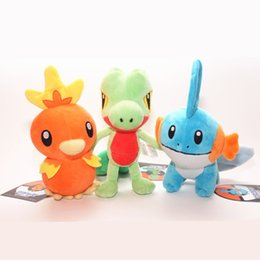 Kids Pc Games NZ - 3 pcs New kids gift 18cm Pikachu Lapras Torchic Treecko Stuffed Dolls Mudkip Animal Plush Toys Gift Cotton Doll