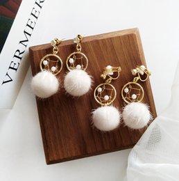 Fashion Women Round Crystal Heart Clip Earrings Color Drill Without Ear Hole Earring Strong Magnet False Ear Earring Earrings