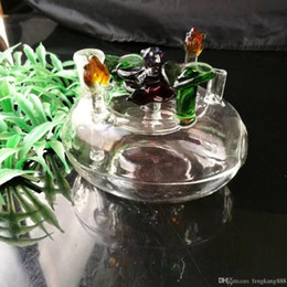 free beds NZ - Flower bed hookah glass bongs accessories , Colorful Pipe Smoking Curved Glass Pipes Oil Burner Pipes Water Pipes Dab Rig Glass Bongs Pipe