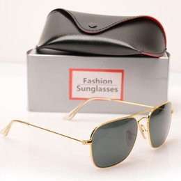 $enCountryForm.capitalKeyWord Australia - Wholesale-High quality sunglasses New womens Mirror sun glasses 3136 fashion Brand Sun glasses design mens sunglasses glass lens With box