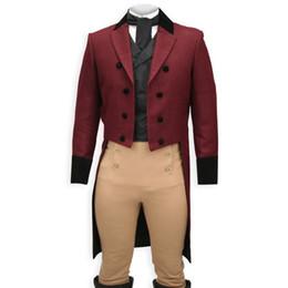 232af125c95dfd Zweireiher Mann Frack 2019 Erreichte Revers Mens Stage Kleidung 3 Stück  Jacke Hosen Weste Weste Benutzerdefinierte männlichen Anzug