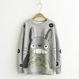 de1775c7b70 Women Harajuku Pink Hoodie Womens Cute Cartoon Totoro Sweatshirts Lady  Casual Fashion Pullover Hoody Tops Femme Tricot Pull