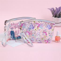 $enCountryForm.capitalKeyWord Australia - Girls Fashion PVC Transparent Cosmetic Bags Portable Travel Makeup Waterproof Zipper Organizer High Quality Cartoon Storage Bags